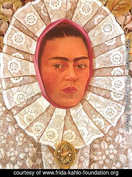 Frida Kahlo - Self Portrait in Medaillon