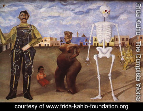 Frida Kahlo - Four Inhabitants Of Mexico City 1938