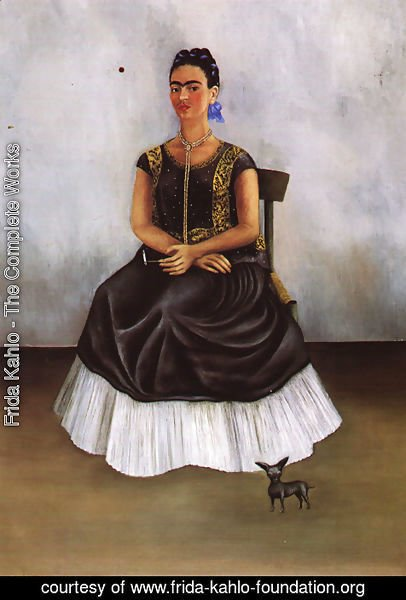 Frida Kahlo - Itzcuintli Dog With Me 1938 Private Collection