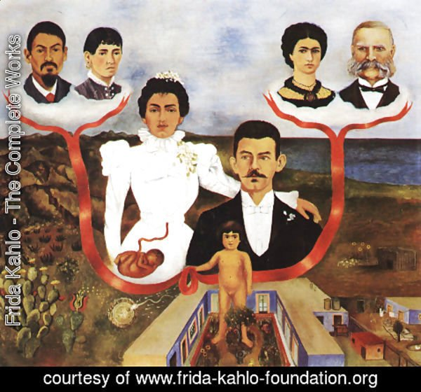 Frida Kahlo - My Grandparents My Parents And I 1936