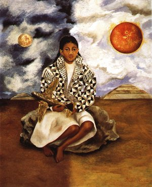 Frida Kahlo - Portrait Of Lucha Maria Girl From Tehuacan 1942