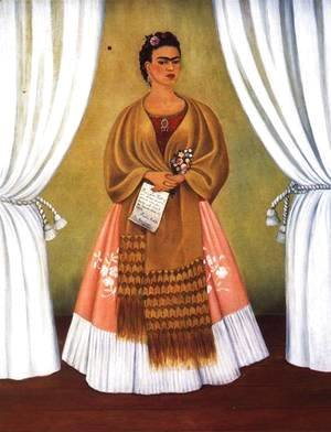 Frida Kahlo - Self Portrait Dedicated To Leon Trotsky Or Between The Curtains 1937