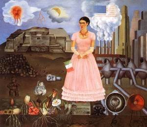 Frida Kahlo - Self Portrait On The Borderline Between Mexico And The United States 1932