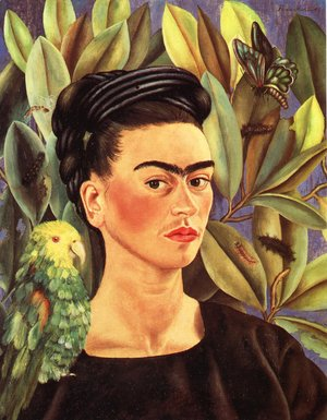 Frida Kahlo - Self Portrait With Bonito 1941