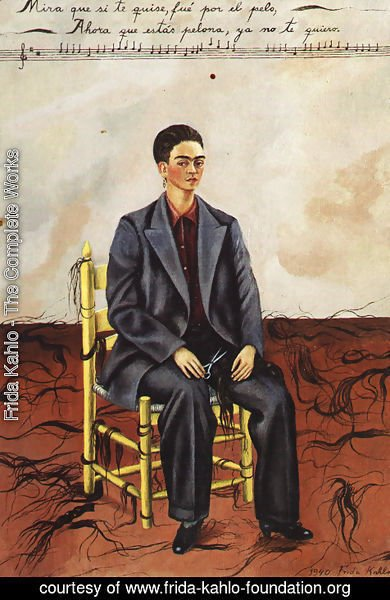 187648935714 Frida Kahlo - The Complete Works - Self Portrait With Cropped Hair ...