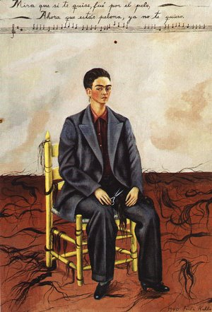 Frida Kahlo - Self Portrait With Cropped Hair 1940