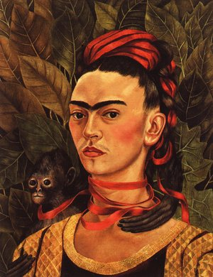 Frida Kahlo - Self Portrait With Monkey 1940