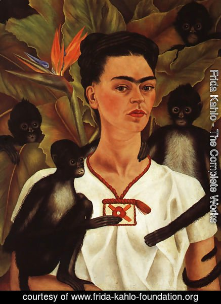 c9cb766a8d8a Frida Kahlo - The Complete Works - Self Portrait With Monkey 1943 ...
