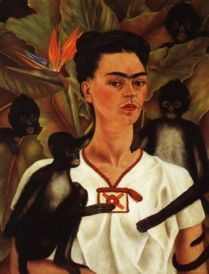 Frida Kahlo - Self Portrait With Monkey 1943