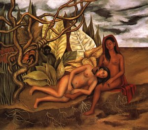 Frida Kahlo - Two Nudes In A Forest 1939