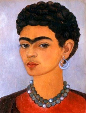 Frida Kahlo - Self Portrait With Curly Hair