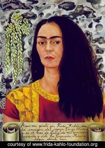 Frida Kahlo - Self Portrait With Loose Hair