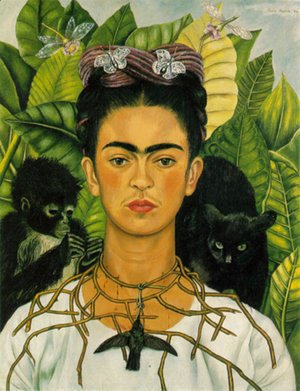 Frida Kahlo - Self Portrait With Monkeys 1940