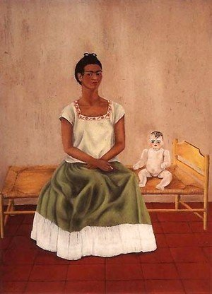Frida Kahlo - Self Portrait On Bed