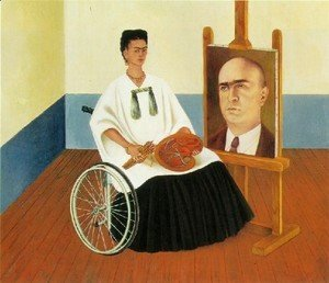 Frida Kahlo - Self Portrait With The Portrait Of Doctor Farill